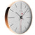 Oliver Hemming Simplex Copper Index Wall Clock, White, 30cm
