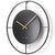 One Six Eight London Addison Metal Wall Clock Black 60cm 23060 1