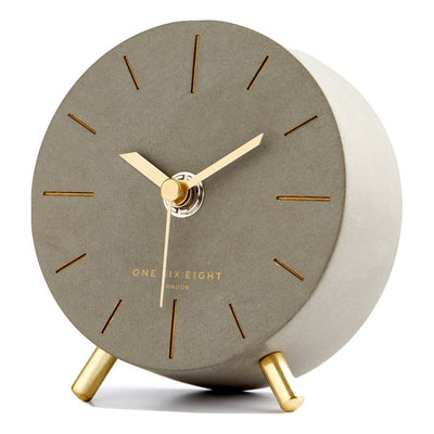 One Six Eight London Angelo Silent Alarm Clock 12cm 7027 Front