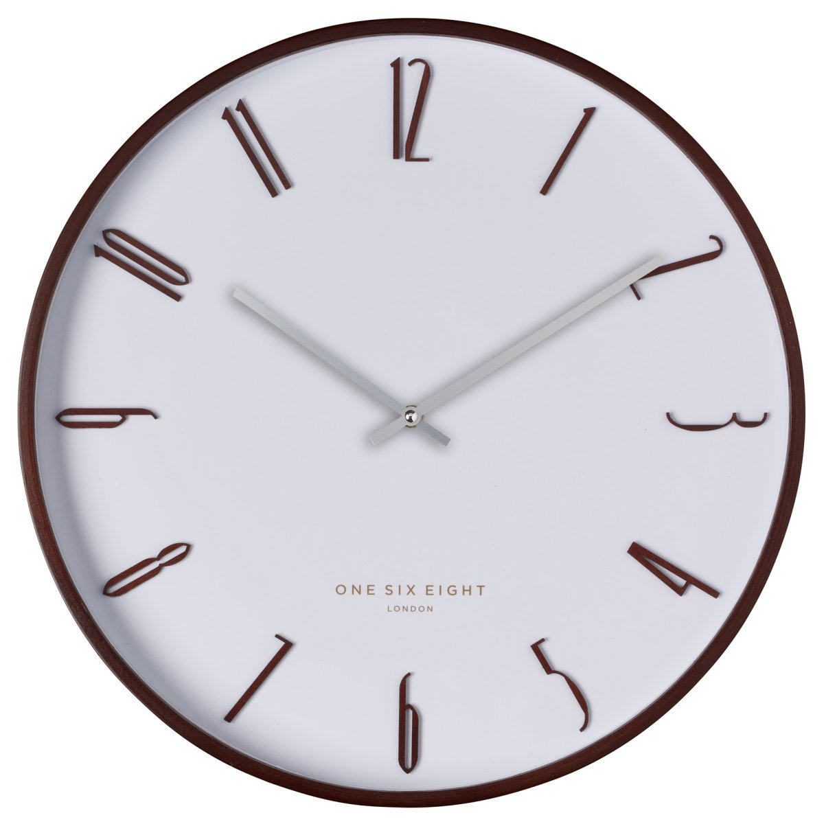 One Six Eight London Archie Wooden Wall Clock White 41cm 24002 1