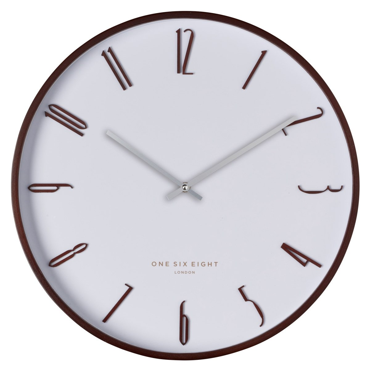 One Six Eight London Archie Wooden Wall Clock White 53cm 24009 1