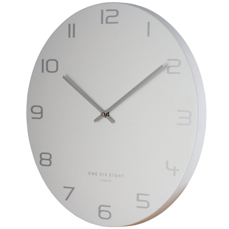 One Six Eight London Bianca Wall Clock, Grey, 40cm