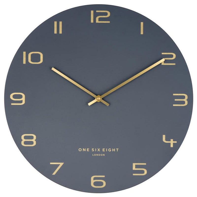 One Six Eight London Blake Wall Clock Charcoal Grey 30cm 22148 1