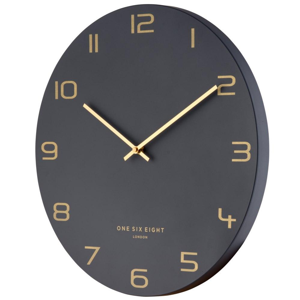 One Six Eight London Blake Wall Clock Charcoal Grey 40cm 22116 1