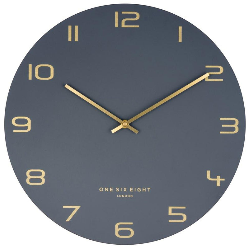 One Six Eight London Blake Wall Clock Charcoal Grey 60cm 22119 1