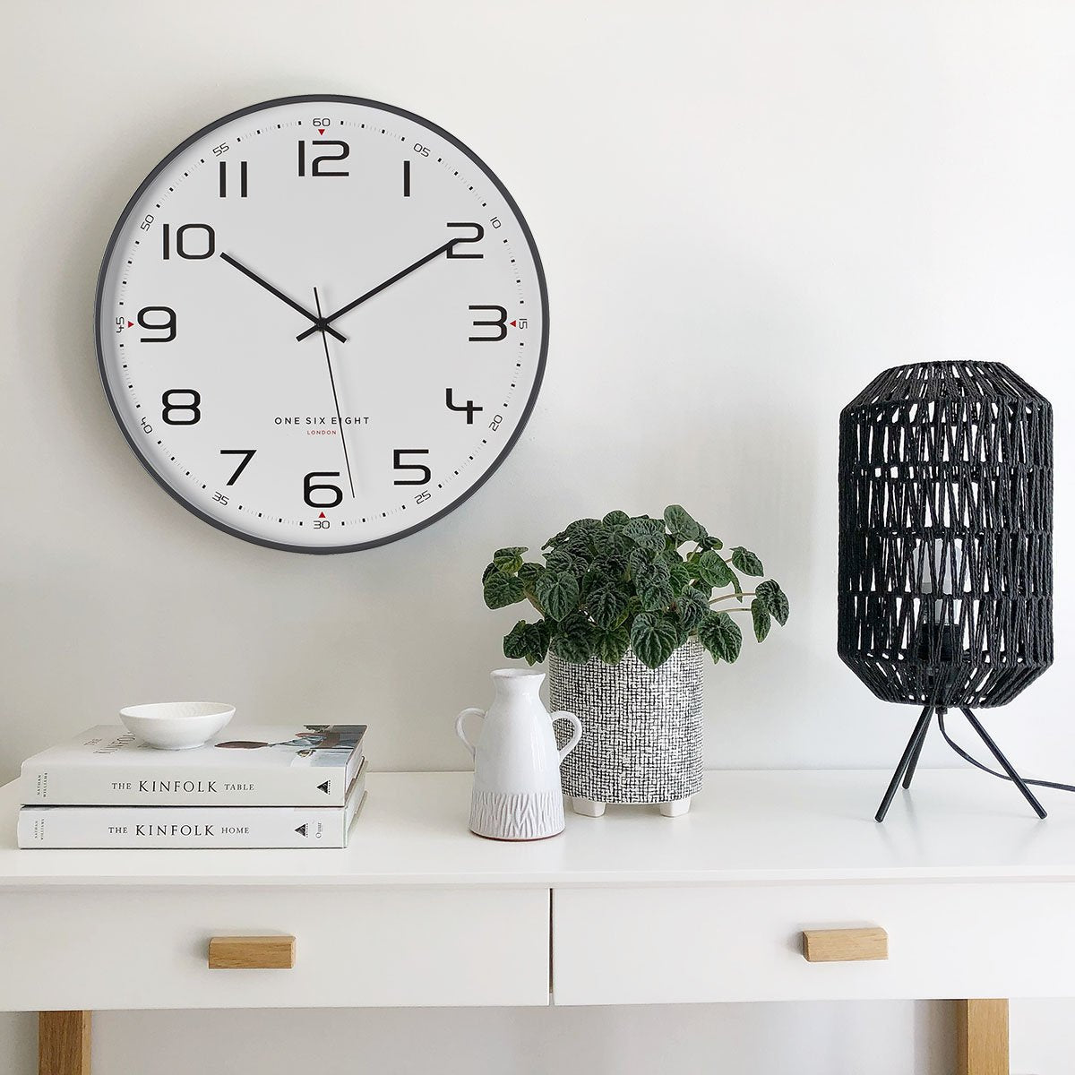 One Six Eight London Carmen Wall Clock Cool Grey 40cm 22126 1