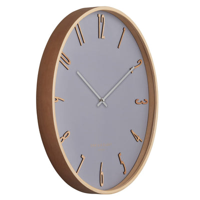 One Six Eight London Ellis Wooden Wall Clock Cool Grey 53cm 24013 2