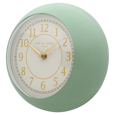 One Six Eight London Emily Wall Clock Green 21cm 22138 1
