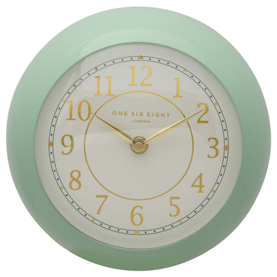 One Six Eight London Emily Wall Clock Green 21cm 22138 2