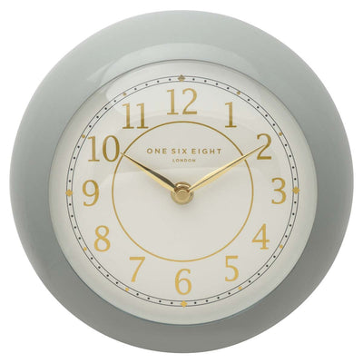 One Six Eight London Emily Wall Clock Grey 21cm 22139 2