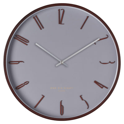 One Six Eight London Freddie Wooden Wall Clock Cool Grey 41cm 24003 1
