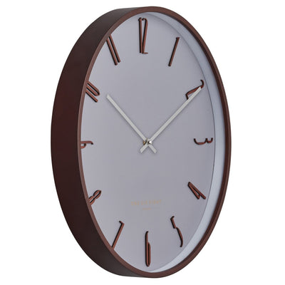 One Six Eight London Freddie Wooden Wall Clock Cool Grey 41cm 24003 2