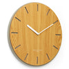 One Six Eight London Gabriel Concrete Wood Silent Wall Clock 35cm 7030 Angle