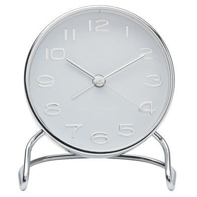 One Six Eight London Isabelle Steel Alarm Clock White 12cm 33003 1