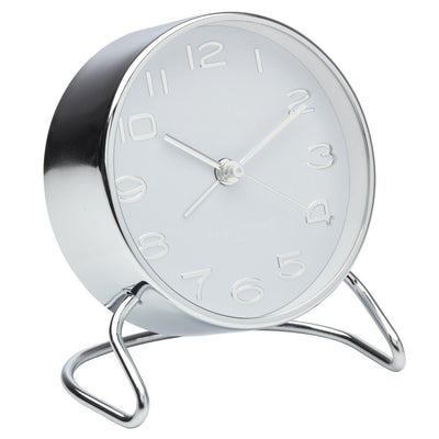 One Six Eight London Isabelle Steel Alarm Clock White 12cm 33003 2
