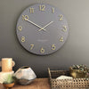 One Six Eight London Katelyn Wall Clock Charcoal Grey 60cm 22136 1