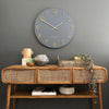 One Six Eight London Katelyn Wall Clock Charcoal Grey 60cm 22136 2