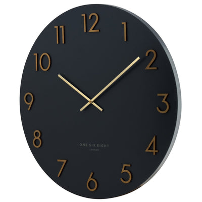 One Six Eight London Katelyn Wall Clock Charcoal Grey 60cm 22136 3