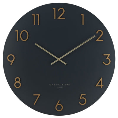 One Six Eight London Katelyn Wall Clock Charcoal Grey 60cm 22136 4