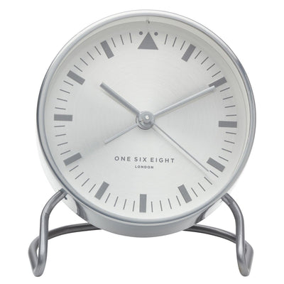 One Six Eight London Lara Stainless Steel Alarm Clock Silver 12cm 33007 1