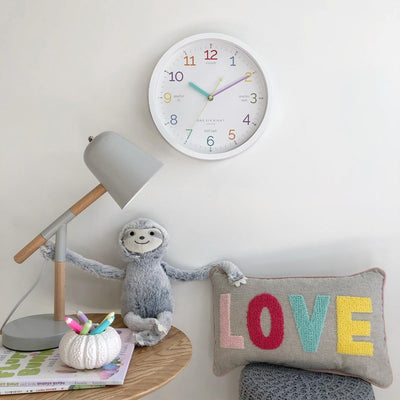 One Six Eight London Learn The Time Wall Clock White 30cm 22125 1