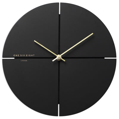 One Six Eight London Liam Minimal Wall Clock Charcoal Grey 30cm 23019S 1