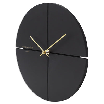 One Six Eight London Liam Minimal Wall Clock Charcoal Grey 30cm 23019S 2