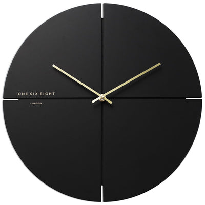 One Six Eight London Liam Minimal Wall Clock Charcoal Grey 40cm 23019M 1