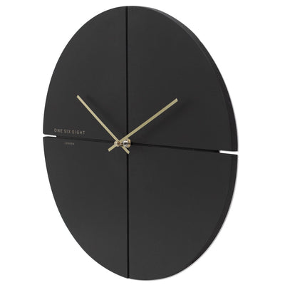 One Six Eight London Liam Minimal Wall Clock Charcoal Grey 40cm 23019M 2