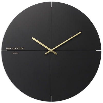 One Six Eight London Liam Minimal Wall Clock Charcoal Grey 60cm 23019L 1