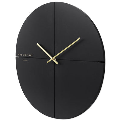 One Six Eight London Liam Minimal Wall Clock Charcoal Grey 60cm 23019L 2
