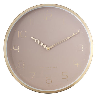 One Six Eight London Lily Champagne Gold Metal Wall Clock 30cm 23014 1