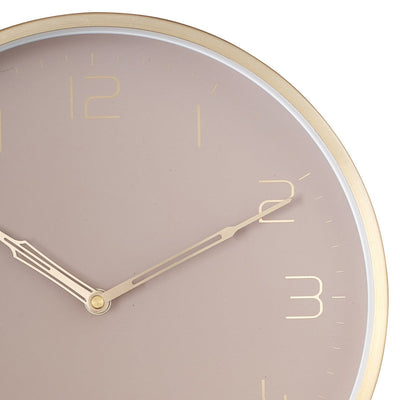 One Six Eight London Lily Champagne Gold Metal Wall Clock 30cm 23014 2