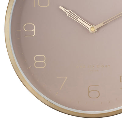 One Six Eight London Lily Champagne Gold Metal Wall Clock 30cm 23014 3