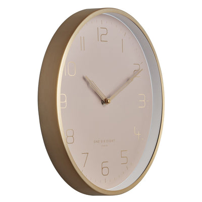 One Six Eight London Lily Champagne Gold Metal Wall Clock 30cm 23014 4