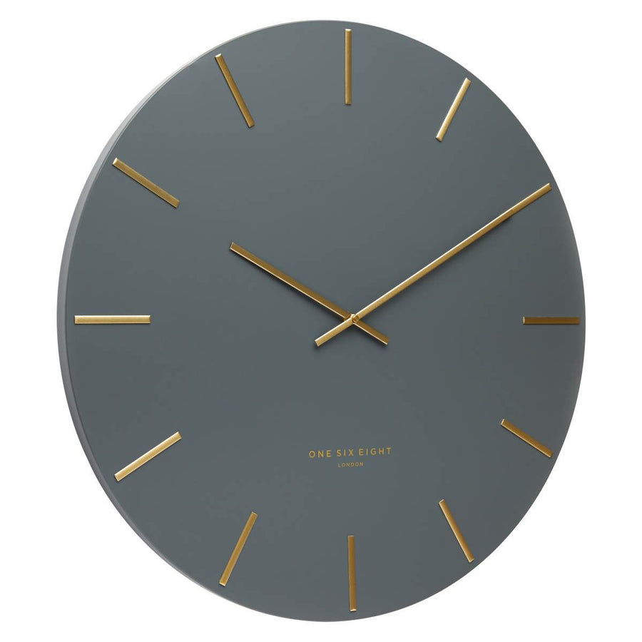 One Six Eight London Luca Wall Clock Charcoal Grey 40cm CK7019 Angle