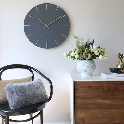 One Six Eight London Luca Wall Clock Charcoal Grey 40cm CK7019 Lifestyle