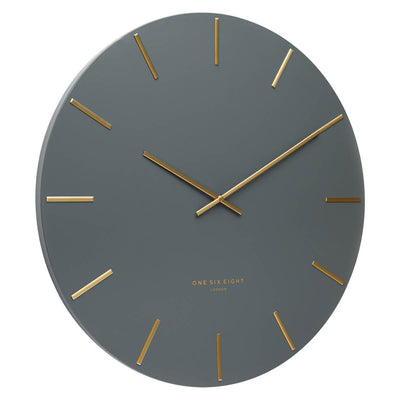 One Six Eight London Luca Wall Clock Charcoal Grey 60cm CK7013 Angle