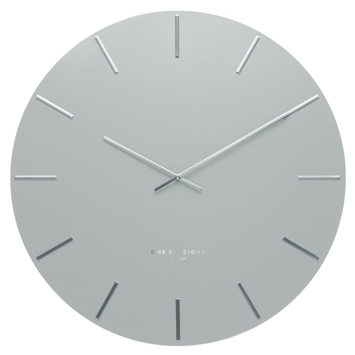 One Six Eight London Luca Wall Clock Light Grey 60cm 22129 1