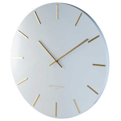 One Six Eight London Luca Wall Clock White 40cm CK7020 Angle