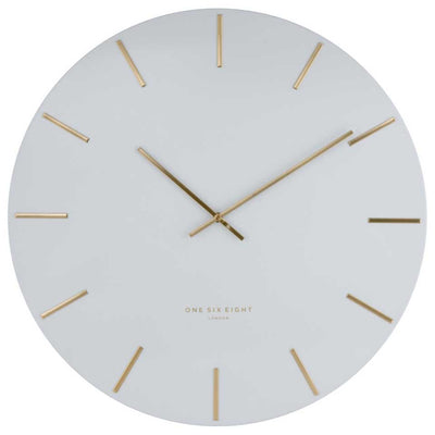 One Six Eight London Luca Wall Clock White 40cm CK7020 Front