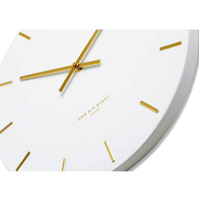 One Six Eight London Luca Wall Clock White 40cm CK7020 Zoom