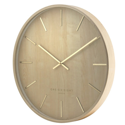 One Six Eight London Marcus Wall Clock Brown 51cm 22146 2
