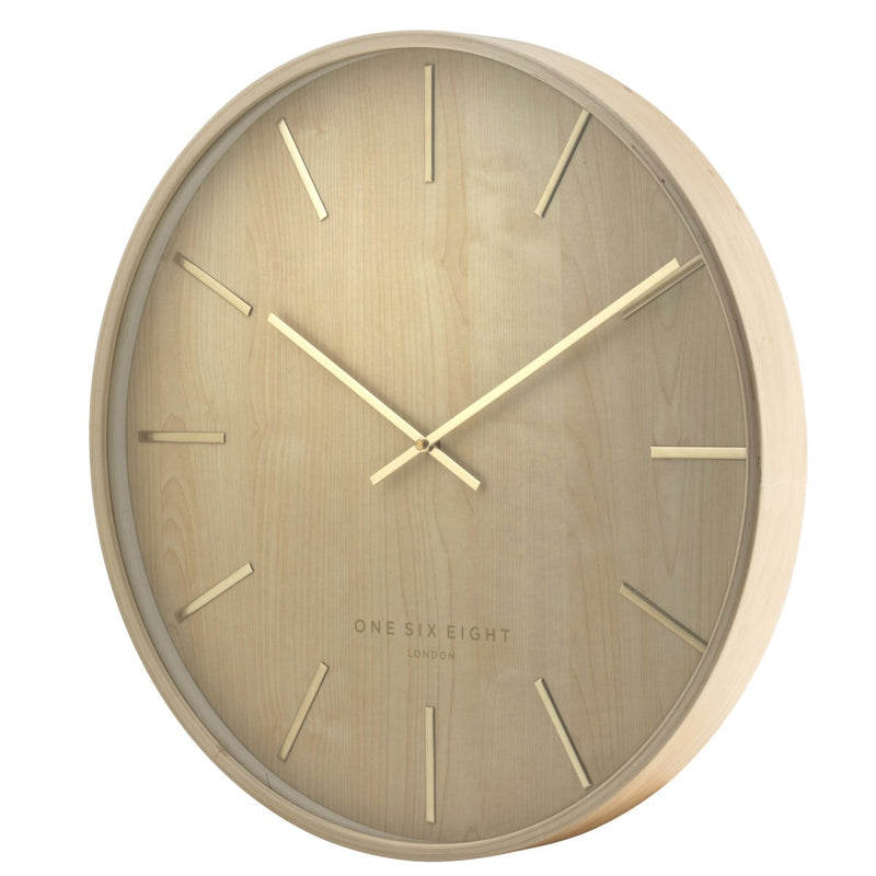 One Six Eight London Marcus Wall Clock Brown 51cm 22146 1