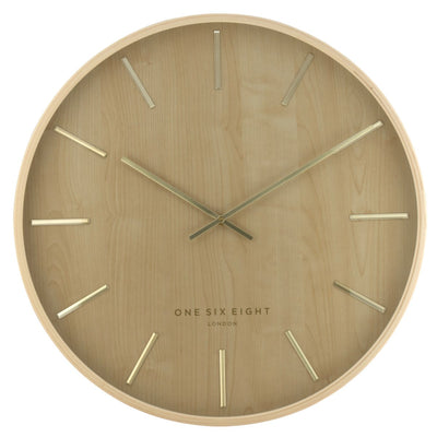 One Six Eight London Marcus Wall Clock Brown 51cm 22146 3