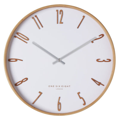One Six Eight London Mason Wooden Wall Clock White 41cm 24005 1