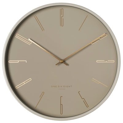 One Six Eight London Maya Metal Wall Clock Nude 30cm 23039 1