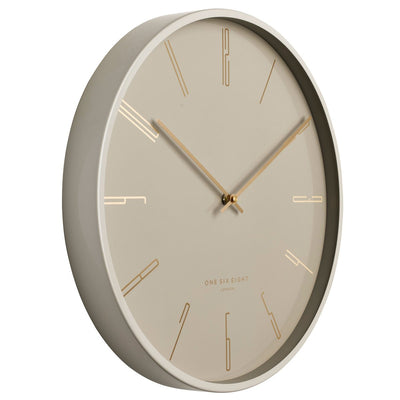 One Six Eight London Maya Metal Wall Clock Nude 30cm 23039 2