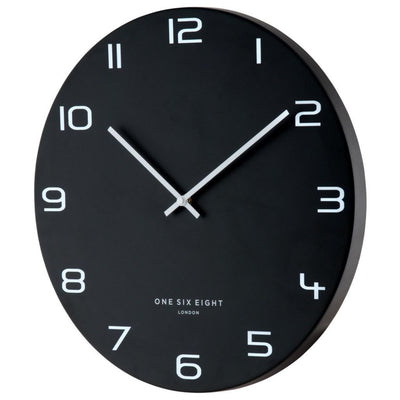 One Six Eight London Nero Wall Clock Black 60cm 22120 1