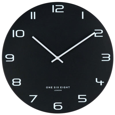 One Six Eight London Nero Wall Clock Black 60cm 22120 2